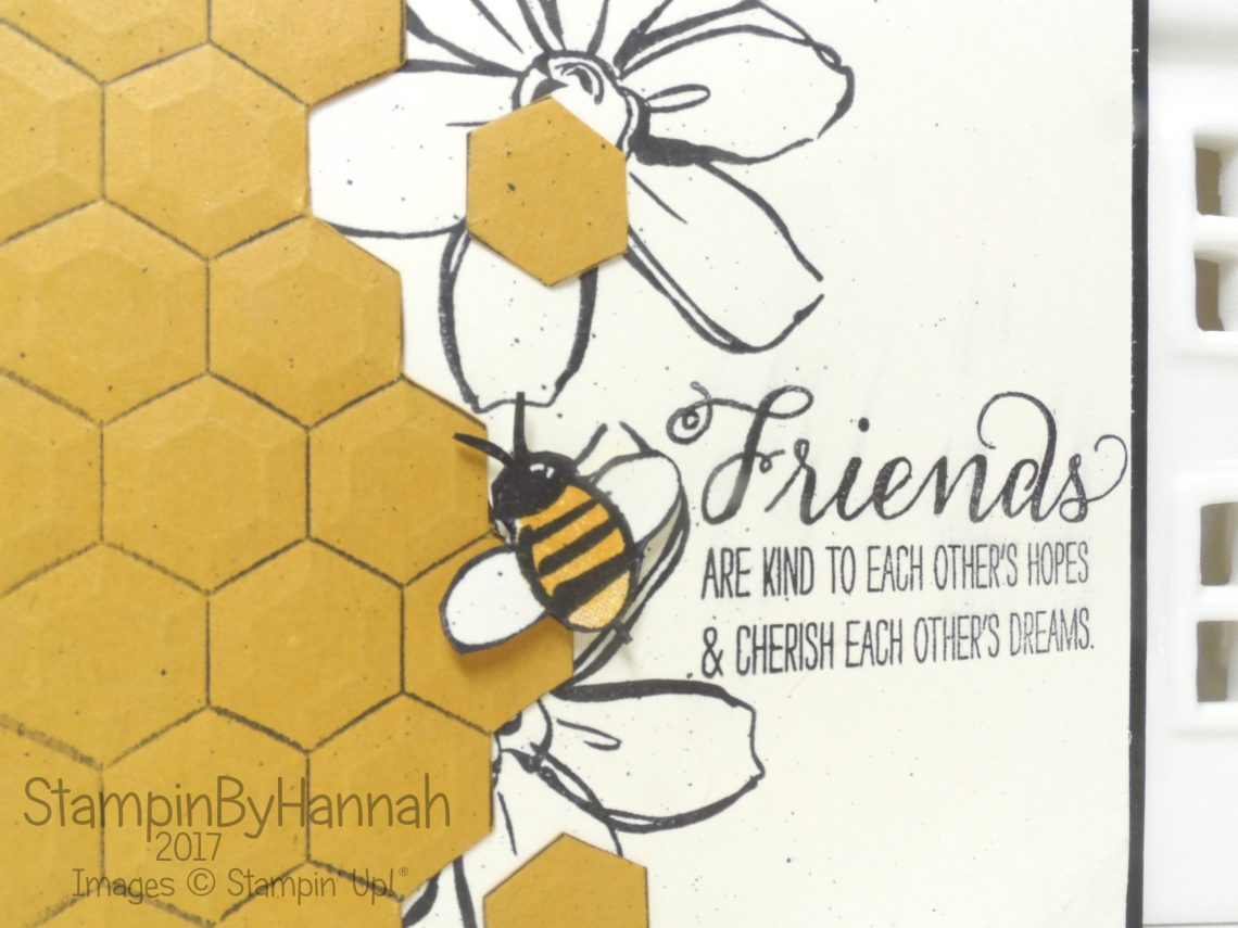 Global Design Project 075 Winged Creatures Theme Challenge Card using Garden in Bloom from Stampin' Up! UK