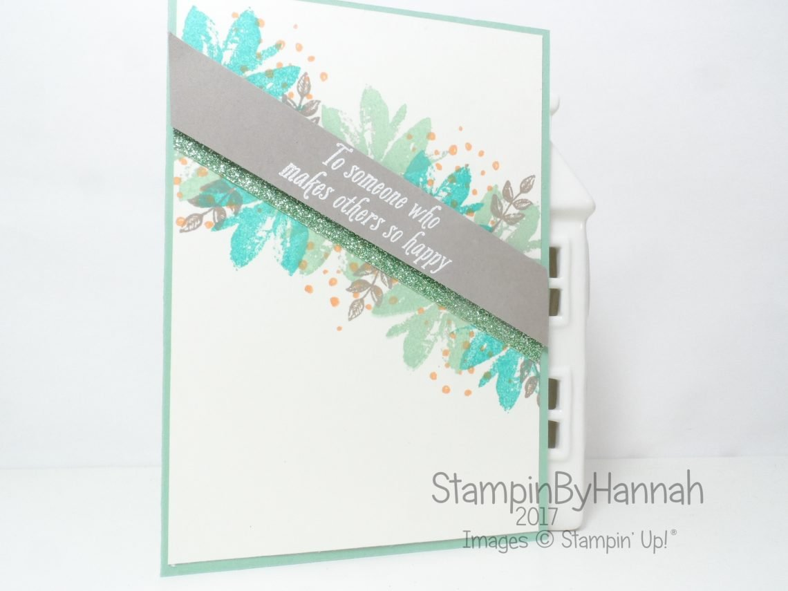 Make It Monday Video Tutorial Stamp Layering Thank you card using Avant Garden from Stampin' Up! Sale-a-bration saleabration