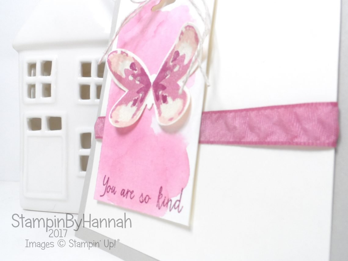 You're So Kind card for the Global Design Project using Butterflies Watercolour Wings from Stampin' Up!