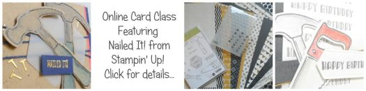 Online Card Class using Nailed It from Stampin Up