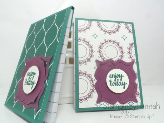 Make It Monday Eastern Palace A7 Notebook Covers using Stampin' Up! products