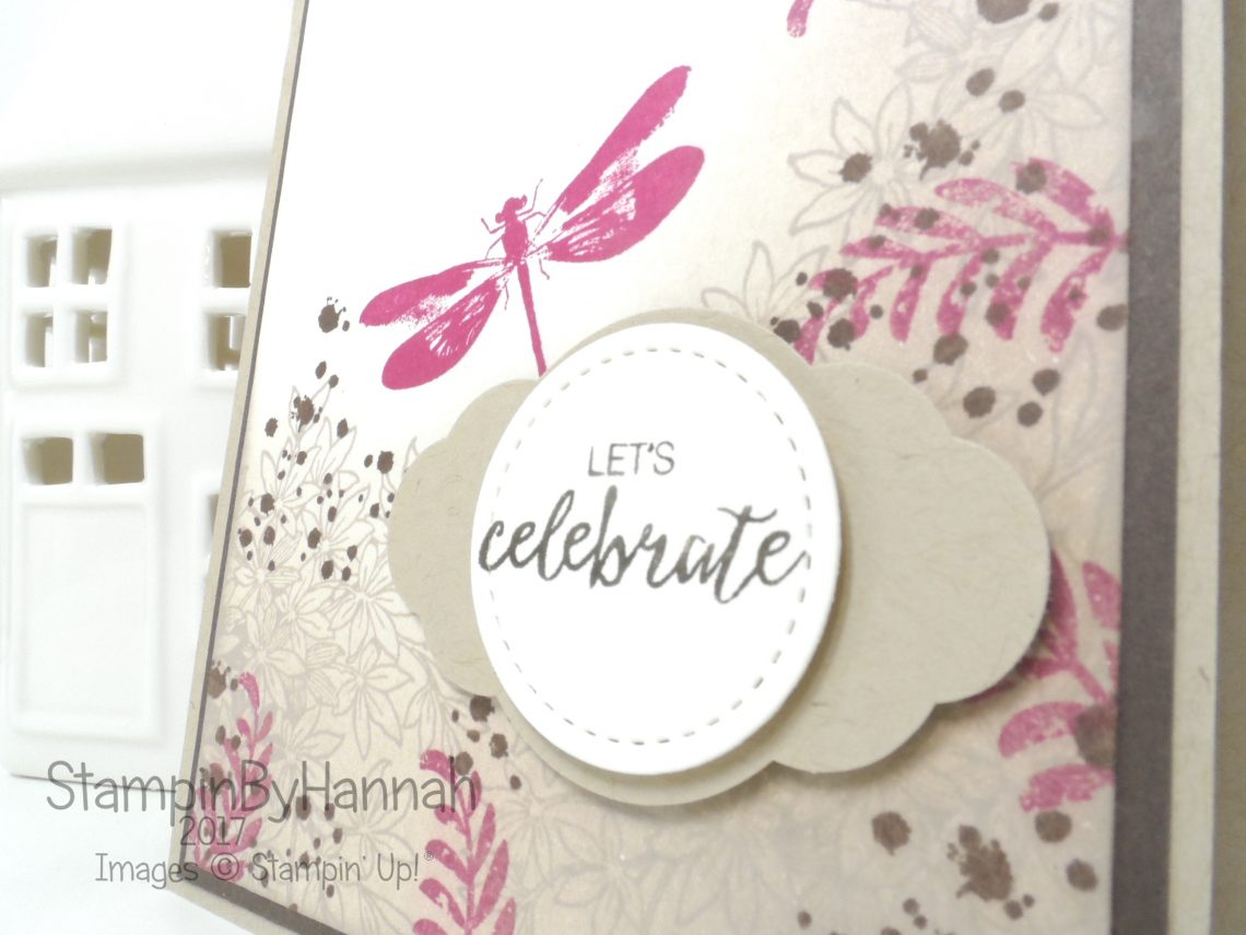 How To video tutorial making a shabby chic card using Awesomely Artistic from Stampin' Up!