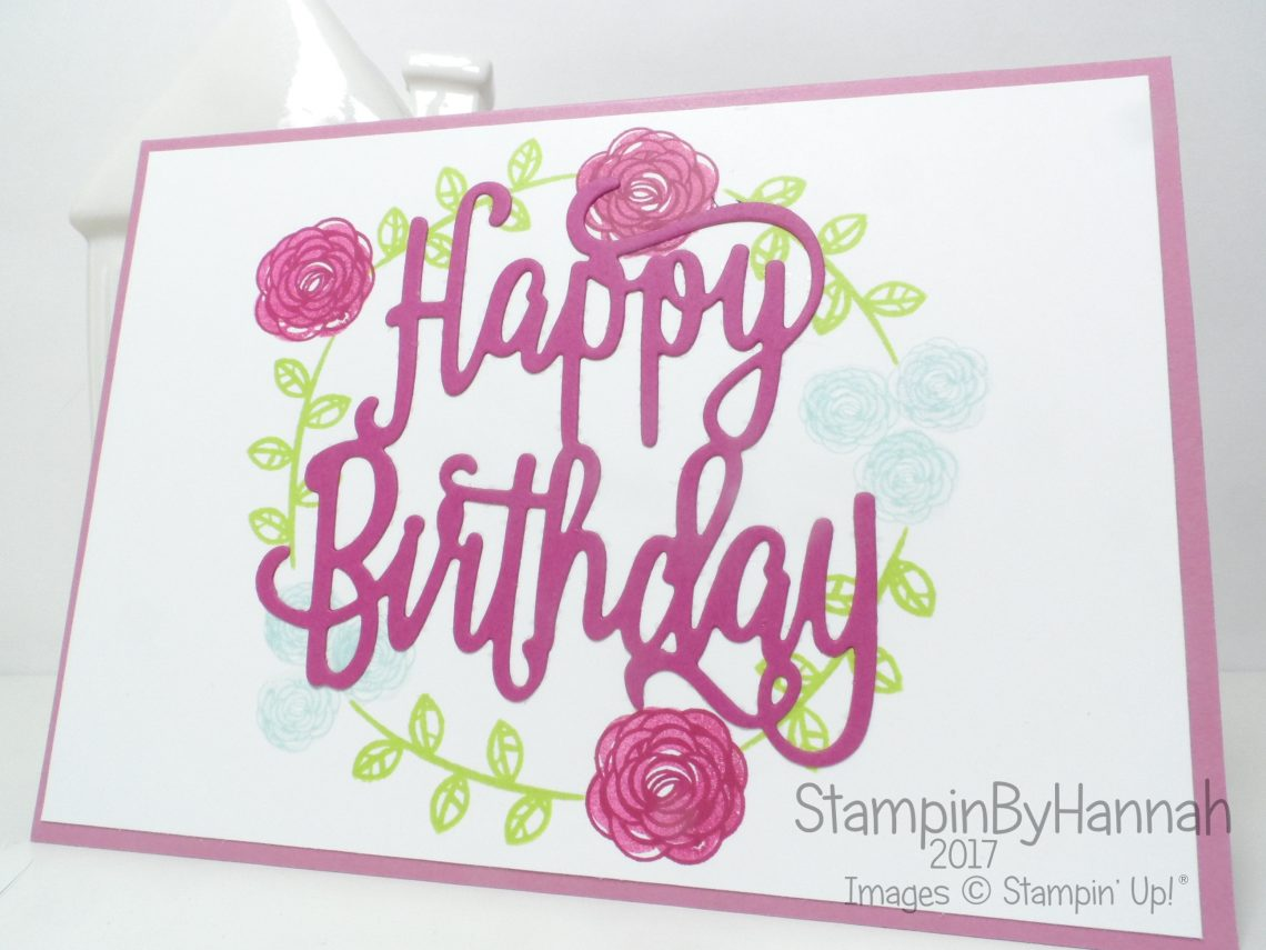 Bright and fun birthday card using Happy Birthday Gorgeous from Stampin' Up!