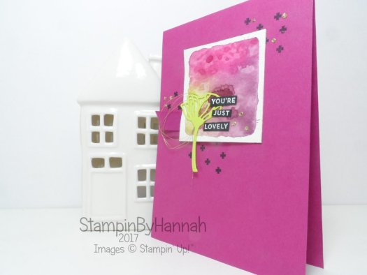 Watercolour Block Stamping technique using Oh So Eclectic from Stampin' Up!