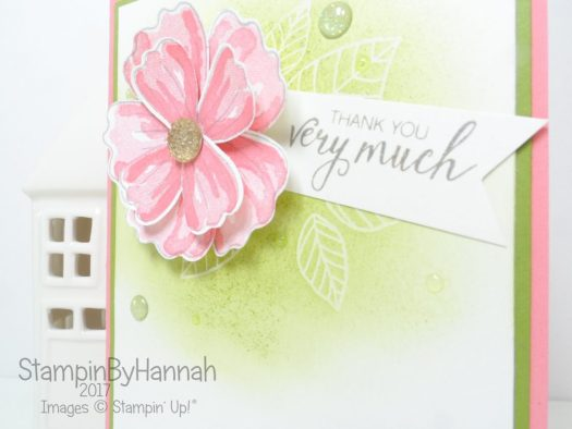 Thank You card using Bunch of Blossoms from Stampin' Up!