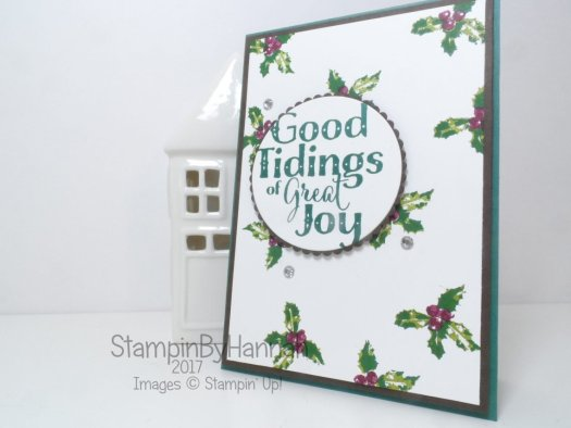 Handmade Christmas card with DIY Designer Series Paper with Good Tidings from Stampin' Up!