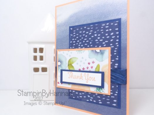 Designer Series Paper Thank You Card using Naturally Eclectic from Stampin' Up!