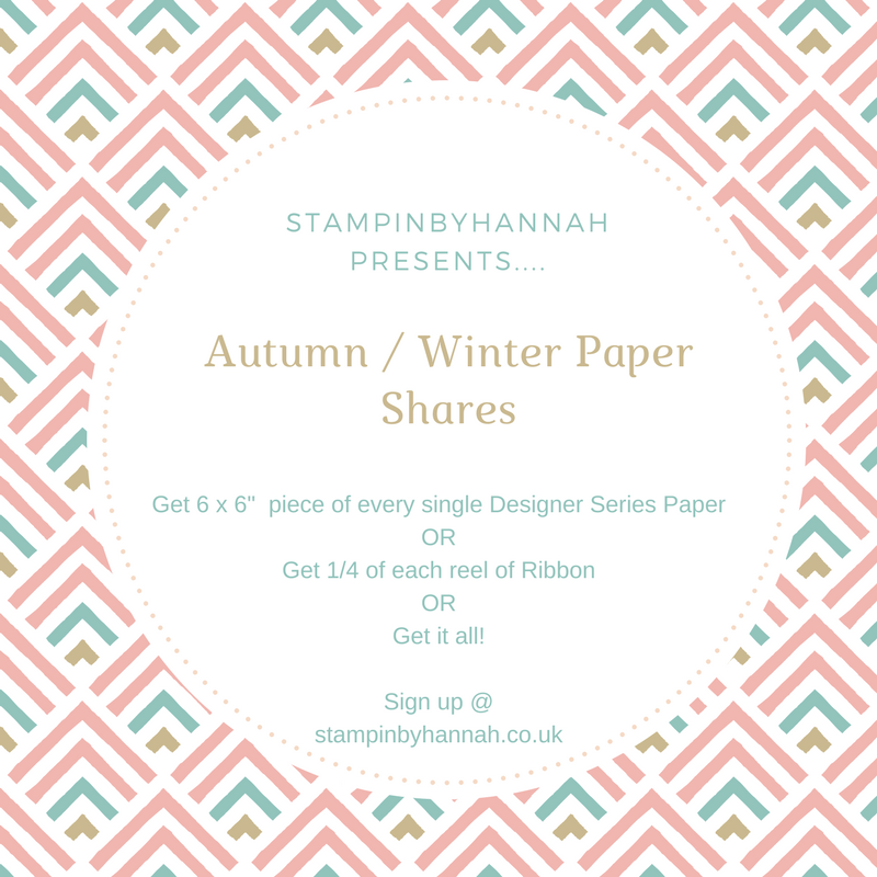 Stampin up Autumn Winter Designer Series Paper shares
