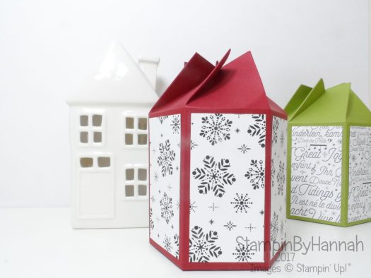 Pootles Papercraft inspired twist and close box for candle in a jar using Stampin' Up! products
