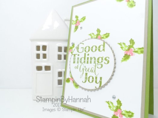 Facebook Live video Tutorial How to create your own Patterned Paper using Stamps Good Tidings Stampin' Up!