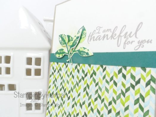 Make it Monday video tutorial Customer Thank you card using Painted Harvest from Stampin' Up!