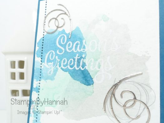 Pootlers Team Blog Hop Christmas Card using Snowflake Sentiments from Stampin' Up!