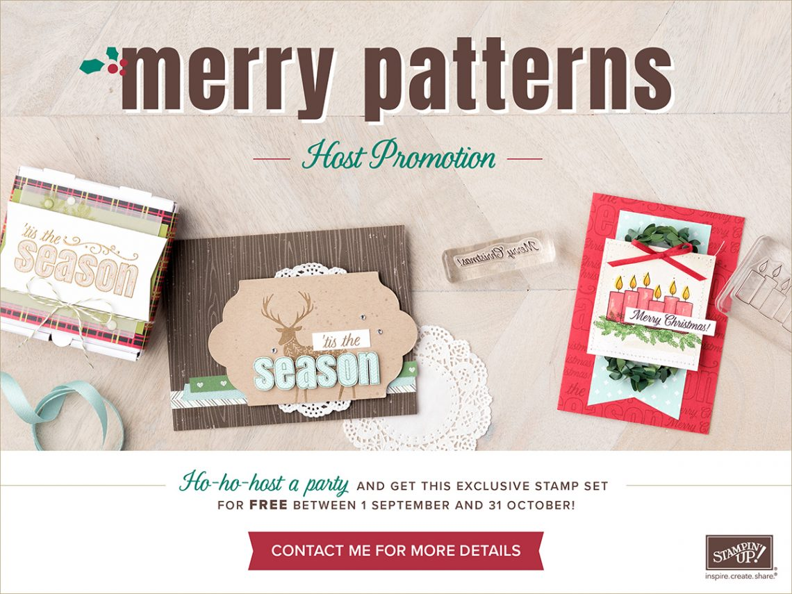 Stampin' Up! Merry Patterns Hostess Exclusive Stamp Set
