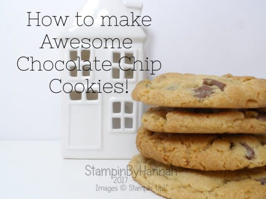 Christmas Countdown Awesome Chocolate Chip Cookies with packaging using Stampin' Up! products