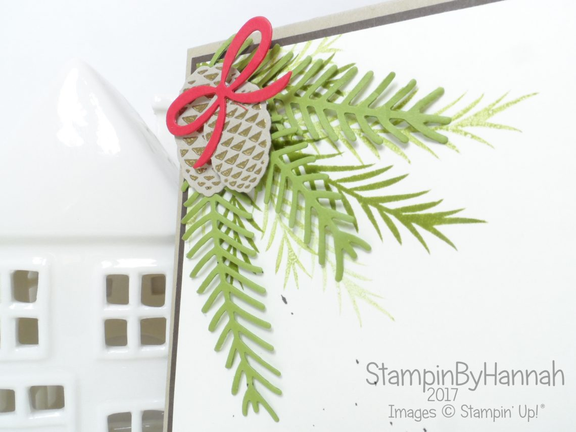 Fun Christmas Card for Inspire.Create.Challenges using Christmas Pines from Stampin' Up!