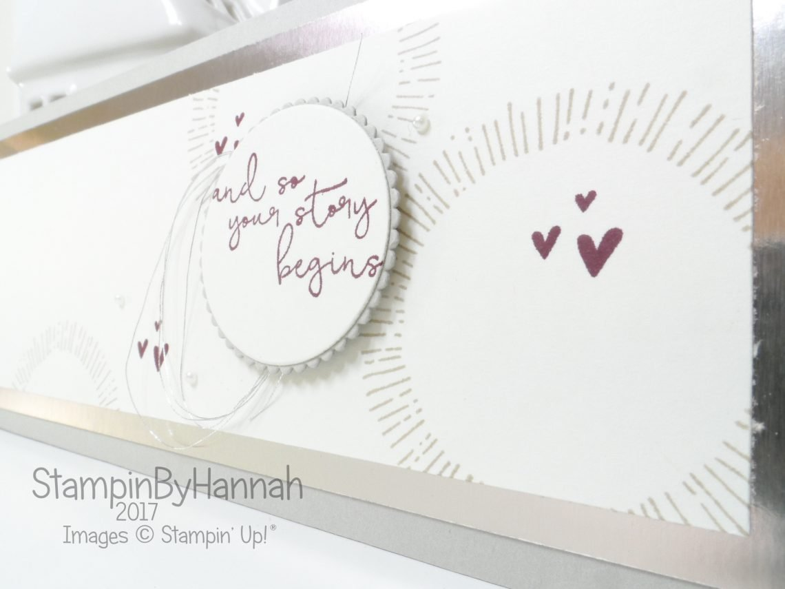 Year of Cheer Wedding Congratulations card using Stampin' Up! products