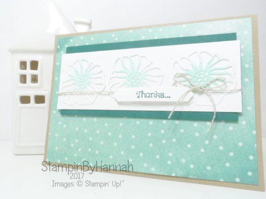 Make It Monday video tutorial Fun Thank you card using Oh So Eclectic from Stampin' Up!