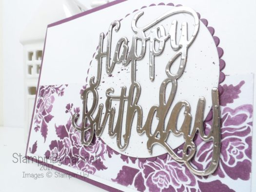 Thoughtful Thursday Fresh Floral Designer Series Paper Birthday Card for my Sister in Law using Stampin' Up! products