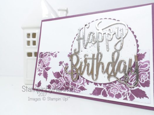 Happy Birthday Gorgeous Fresh Florals Designer Series Paper Birthday Card using Stampin' Up! Products