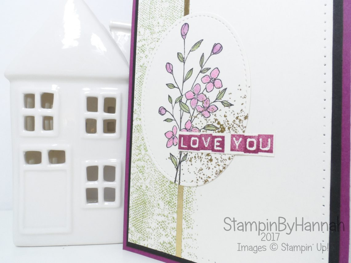 Pretty Love card using Touches of Texture from Stampin' Up!