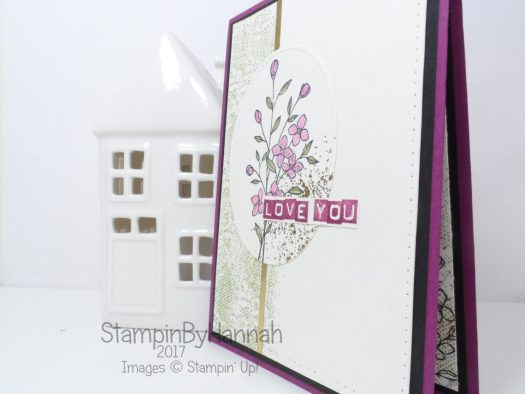 Love you card using Touches of Texture from Stampin' Up!