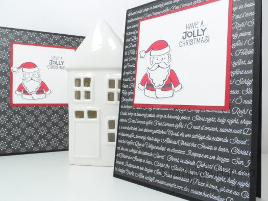 Christmas Countdown Christmas Card Set using Santas Suite from Stampin' Up!