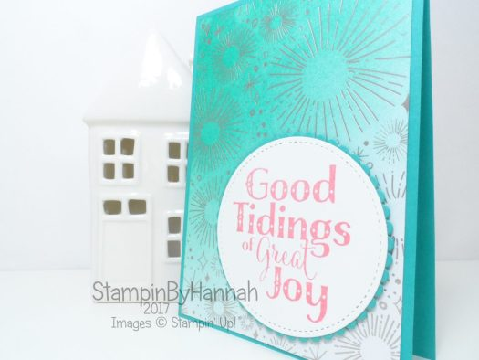 Facebook Live Coloured Designer Series Paper Year of Cheer and Good Tidings Christmas Card from Stampin' Up!