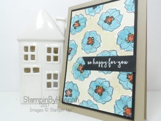 Global Design Project Watecolour Colour Me Happy Card using Stampin' Up! products