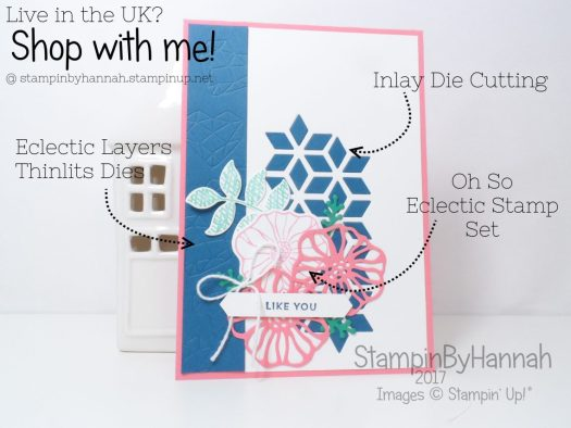 How to make a fun Love card using Oh So Eclectic from Stampin' Up!
