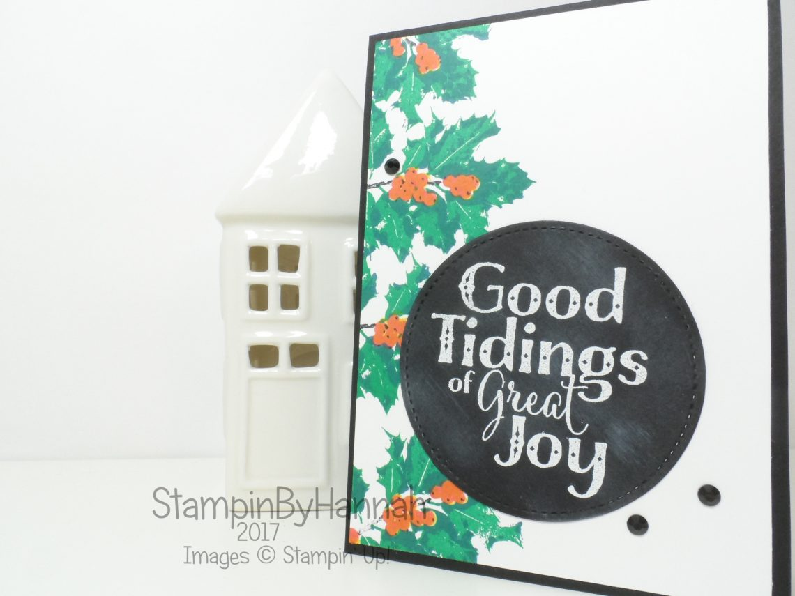 Make It Monday video tutorial how to make a fabulous Christmas card using 2 step stamping and Good Tidings from Stampin' Up!