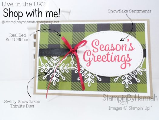 Stampin' Up! UK Gift Voucher card by StampinByHannah using Snowflake Sentiments from Stampin' Up!