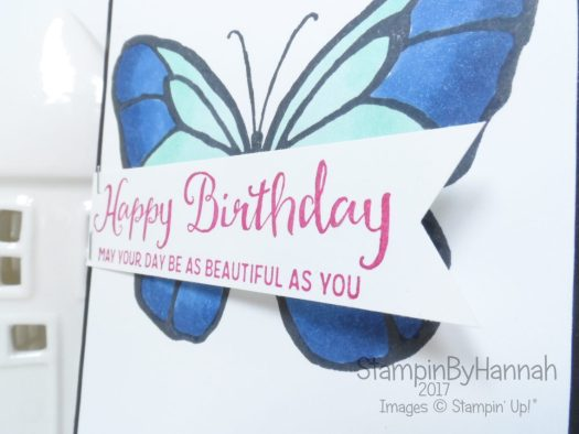Cute Butterfly Birthday Card using Beautiful Day from Stampin' Up!