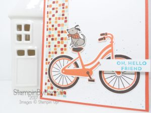 Oh Hello Friend Dog card using Bike Ride from Stampin' Up!