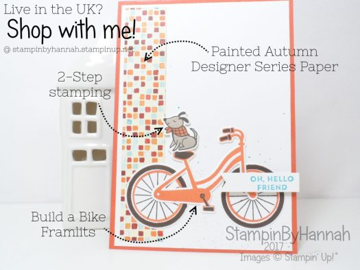 Cute Dog Card using Bike Ride from Stampin' Up!