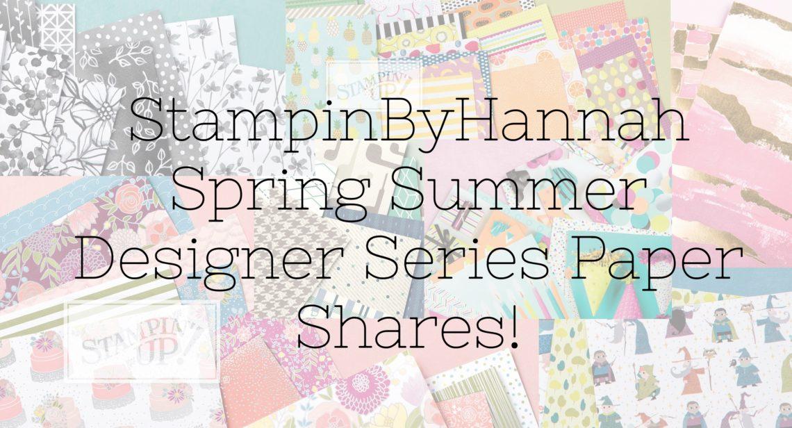 Stampin' Up! UK Paper Shares Spring Summer 2018