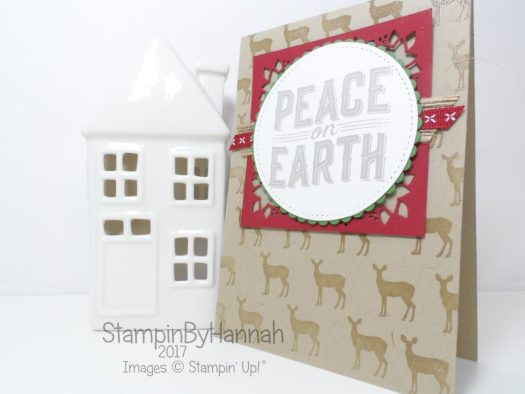 Fun Christmas Card using Carols of Christmas from Stampin' Up! Facebook Live Online Card Class
