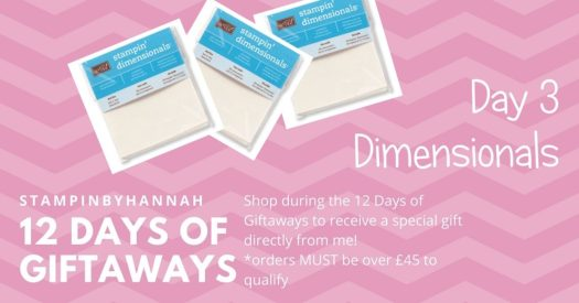 StampinByHannah Stampin' Up! 12 days of giftaways