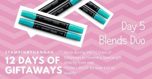 StampinByHannah Stampin' Up! 12 days of giftaways