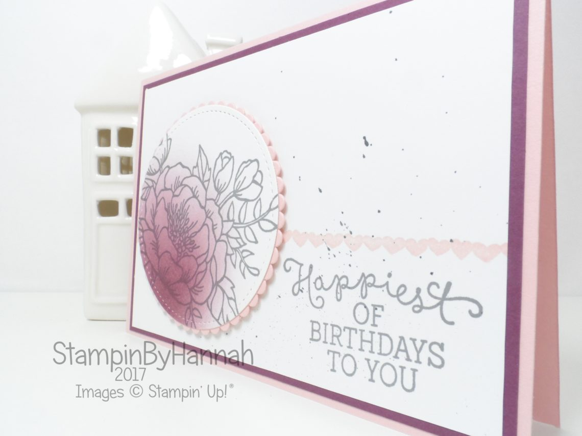 How to make a quick and easy floral birthday card using Birthday Blooms from Stampin' Up!