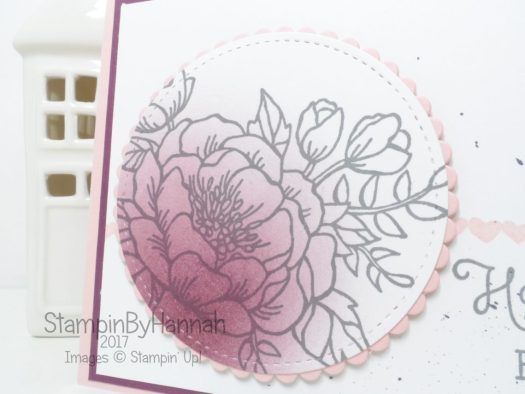Fun Floral Birthday Card using Birthday Blooms from Stampin' Up!