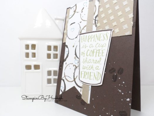 Cute Friendship Coffee card using Coffee Cafe from Stampin' Up!