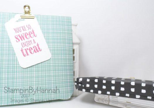 Make It Monday Fold Flat Giftbag Tutorial using Pick a Pattern Designer Series Paper from Stampin' Up!