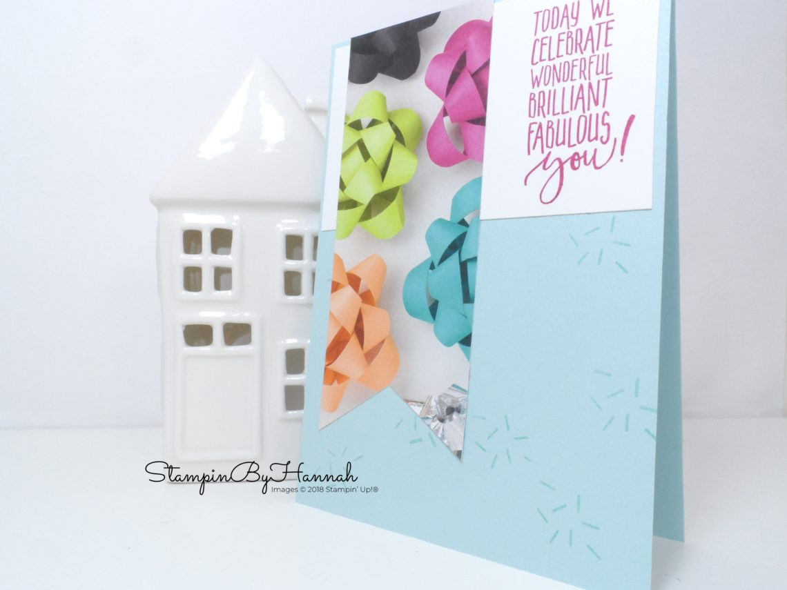 Make It Monday Video Tutorial How to use a cardmaking sketch with Picture Perfect Birthday from Stampin' Up!