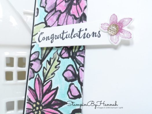 How to make a quick and easy watercoloured congratulations card using Petal Palette from Stampin' Up!
