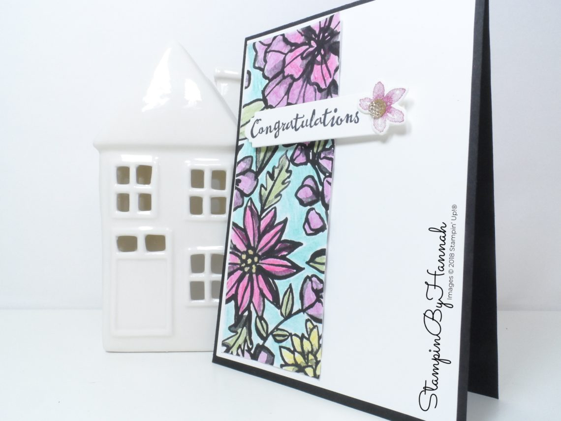 Quick and Easy Congratulations card using Watercolour Pencils and Petal Palette from Stampin' Up!