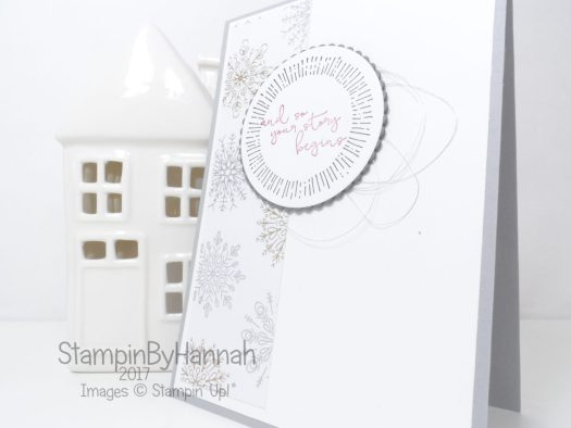 How to make a fabulous Wedding Card using Year of Cheer from Stampin' Up!