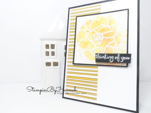 Facebook Live Online Card Class with Brusho and Beautiful Day from Stampin' Up!