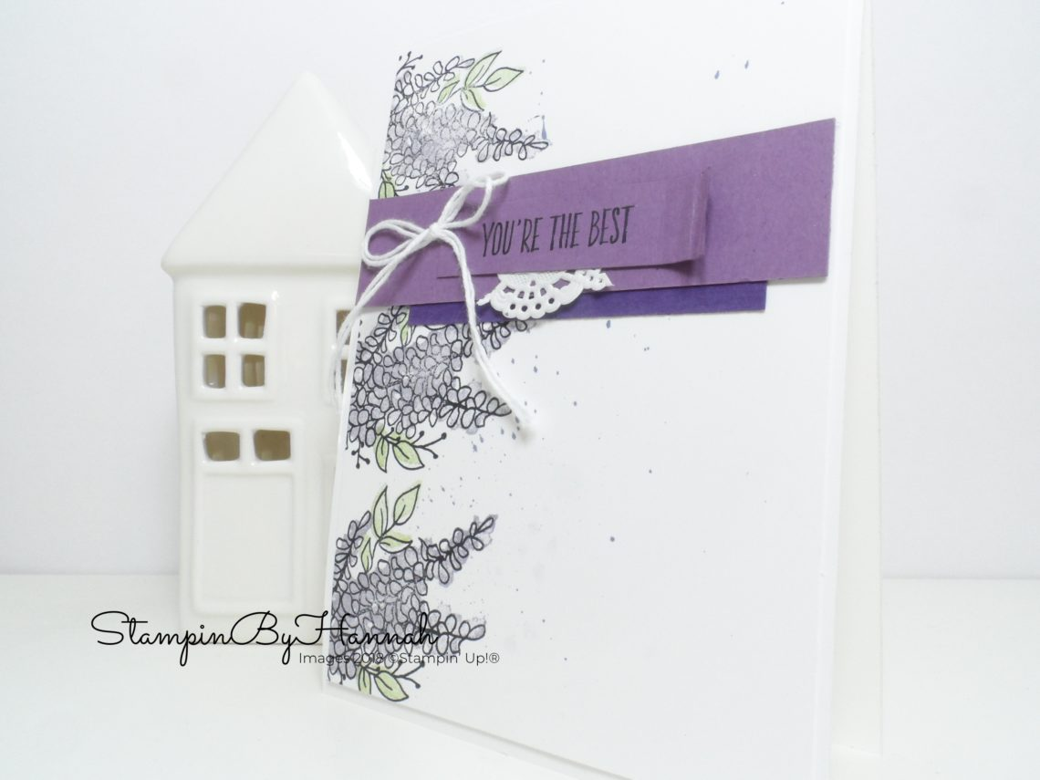 How to make a pretty Thank you card using Lots of Lavender from Stampin' Up! Card Case from Kimberly VanDiepen