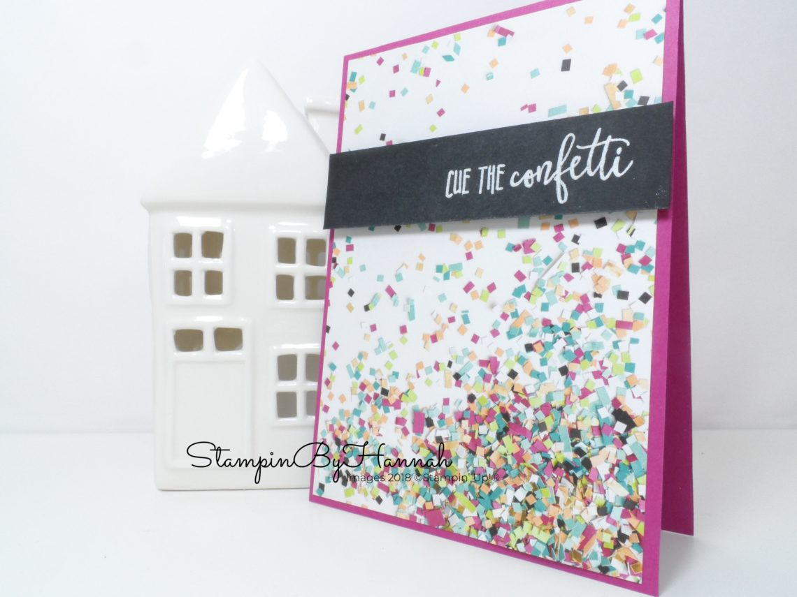 Make It Monday How to make a quick and simple birthday card using Picture Perfect Party Designer Series paper from Stampin' Up!