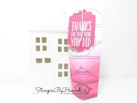 Make It Monday Cut Self Closing Bag Tutorial using Just Add Colour Designer Series Paper from Stampin' Up!